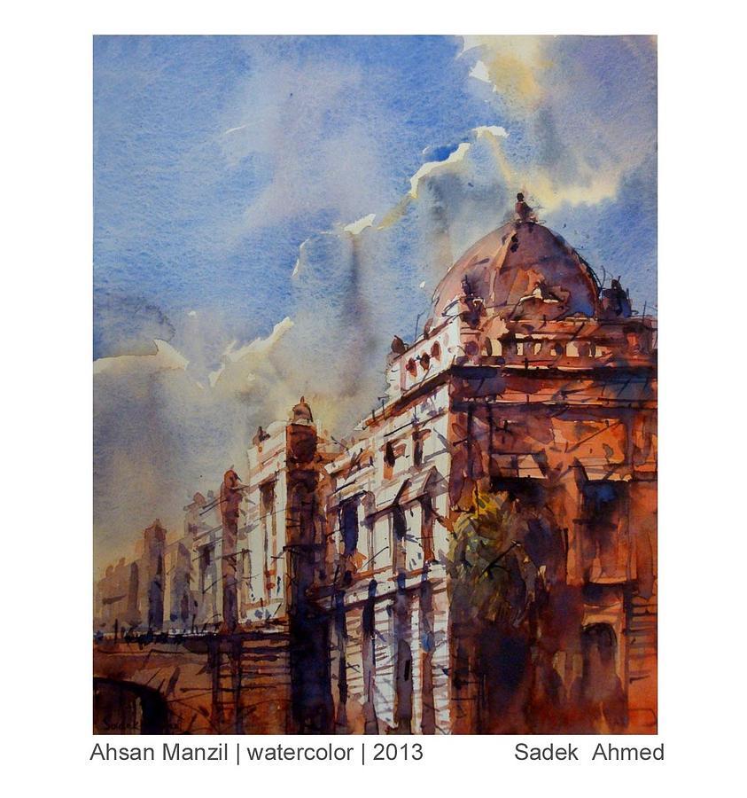 Ahsan Manjil Painting by Sadek Ahmed