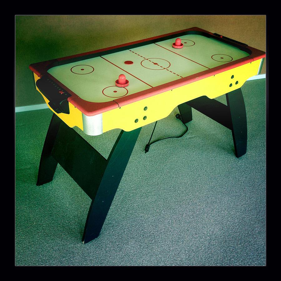 Air Hockey Table Photograph - Air Hockey Table by Les Cunliffe