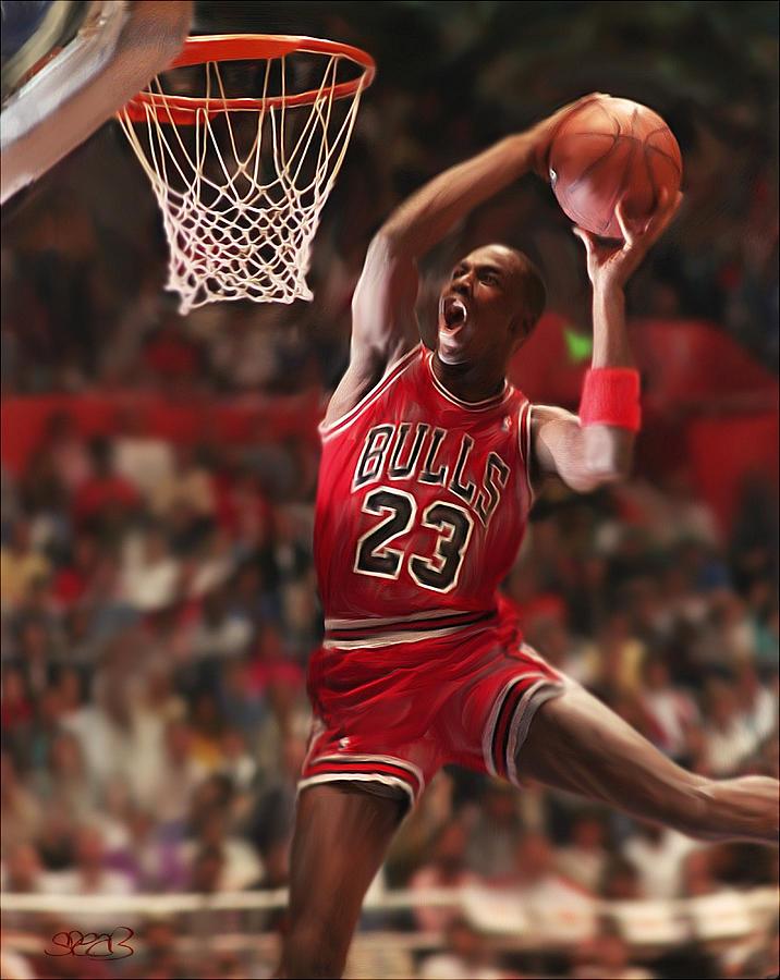 Michael Jordan Mixed Media - Air Jordan by Mark Spears