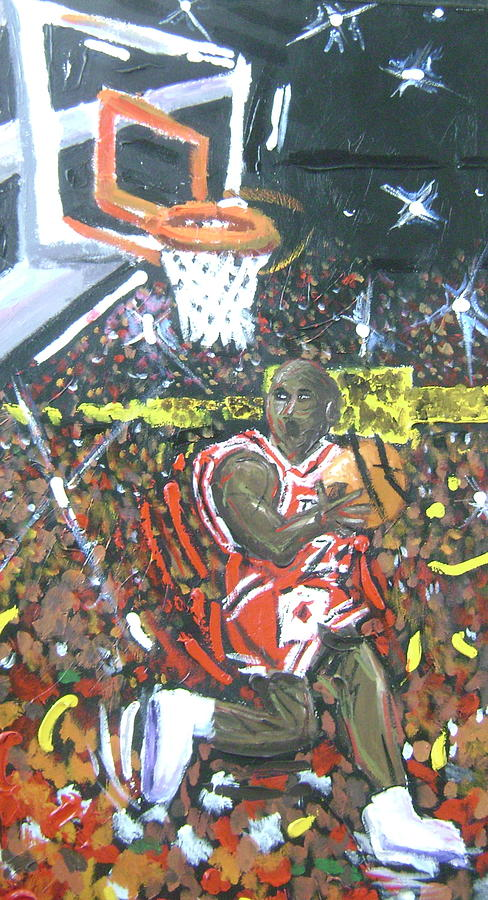 Basketball Painting - Air Jordan by Matt Umthun