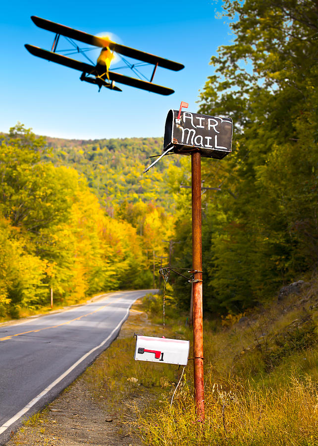 Air Mail Delivery Maine Style Photograph  - Air Mail Delivery Maine Style Fine Art Print