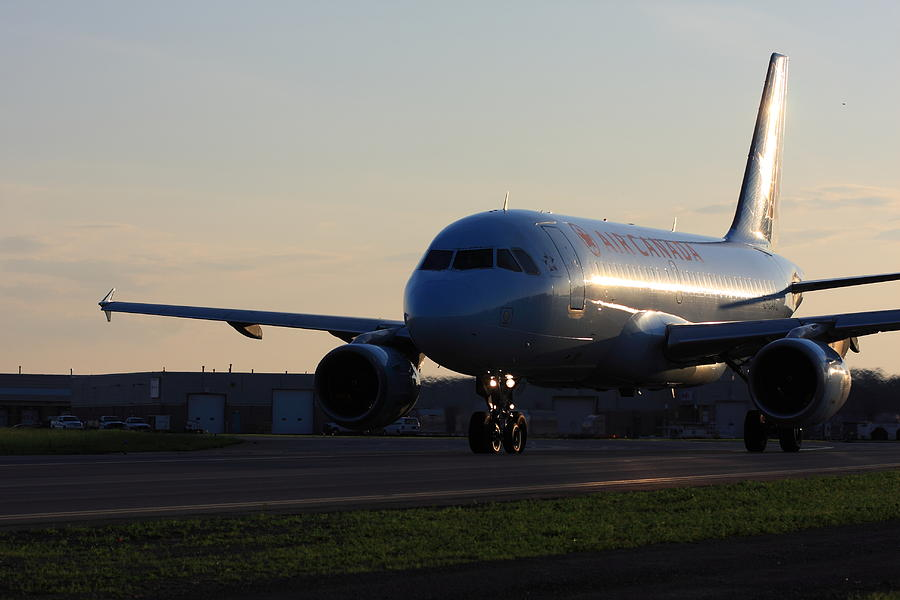 Airbus 319 Air Canada In Ottawa International Airport Yow Canada Photograph