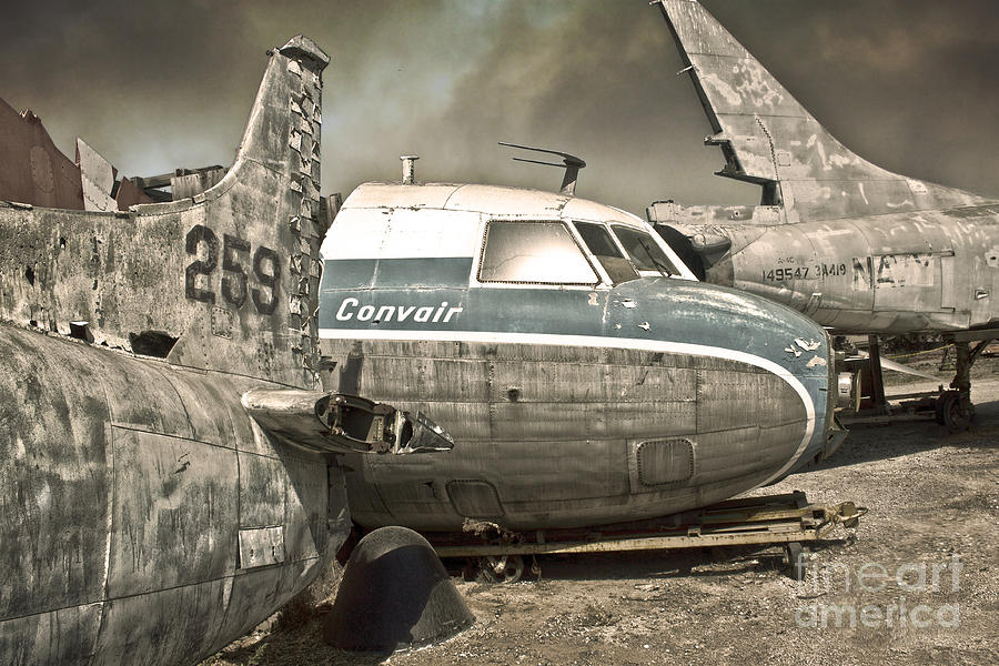 Airplane Graveyard Painting  - Airplane Graveyard Fine Art Print