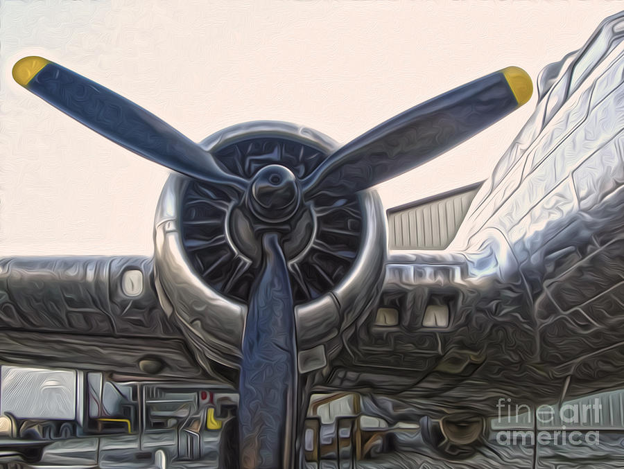 Airplanes Painting - Airplane Propeller - 01 by Gregory Dyer