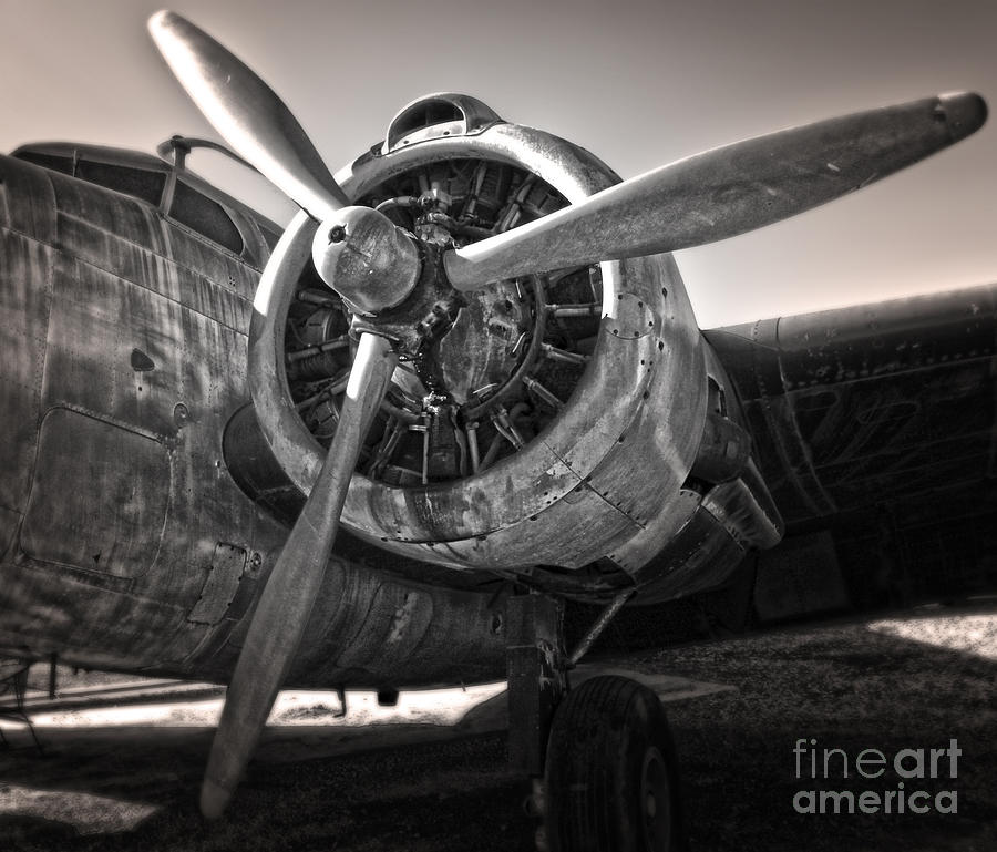 Airplane Propeller - 05 Photograph  - Airplane Propeller - 05 Fine Art Print