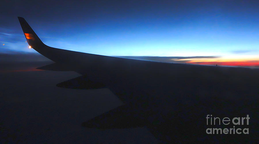 Airplane Wing Photograph - Airplane Wing - 02 by Gregory Dyer