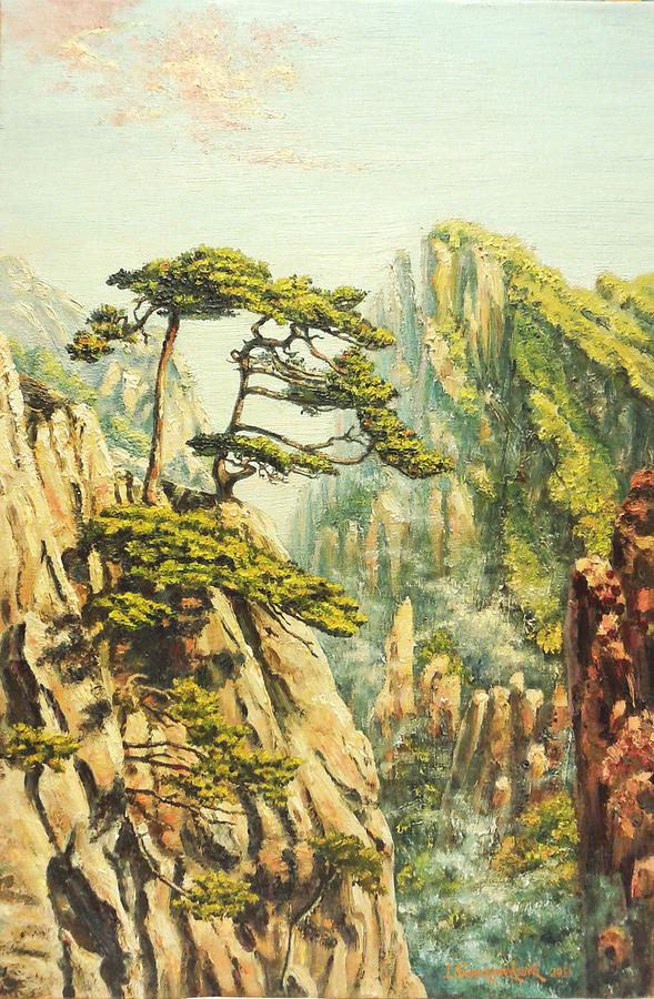 Airy Mountains Of China. Painting