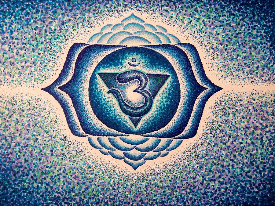 Ajna Third Eye Chakra  Drawing