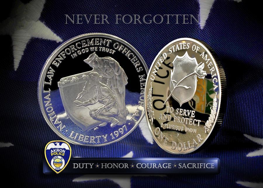 Akron Police Memorial Photograph