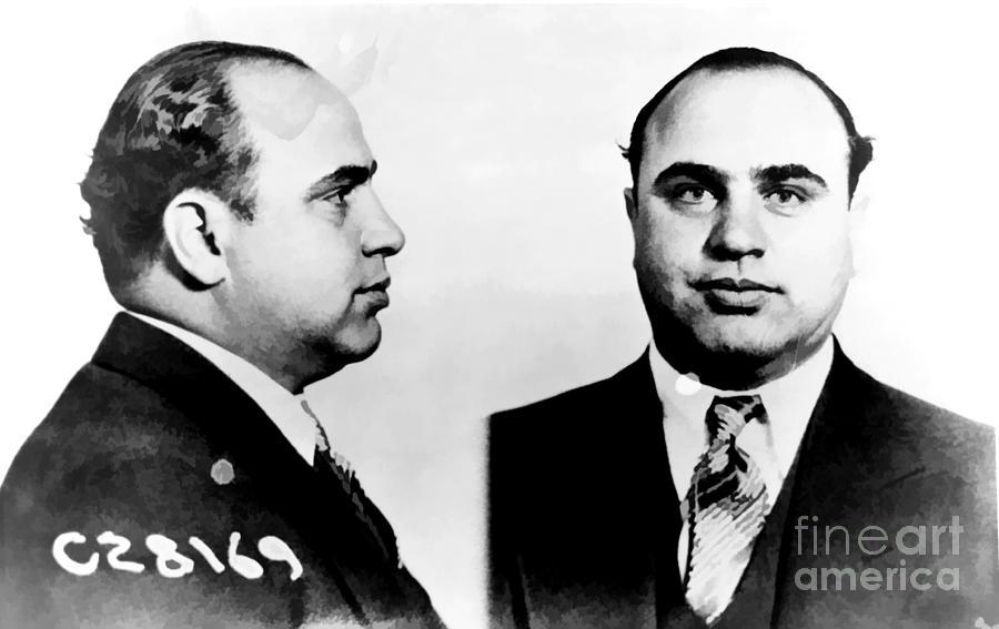 Al Capone Mug Shot Photograph
