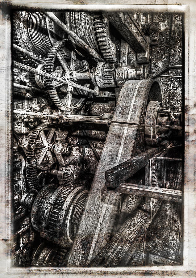 Alaskan Gold-dredge Bucket Gear Train Photograph