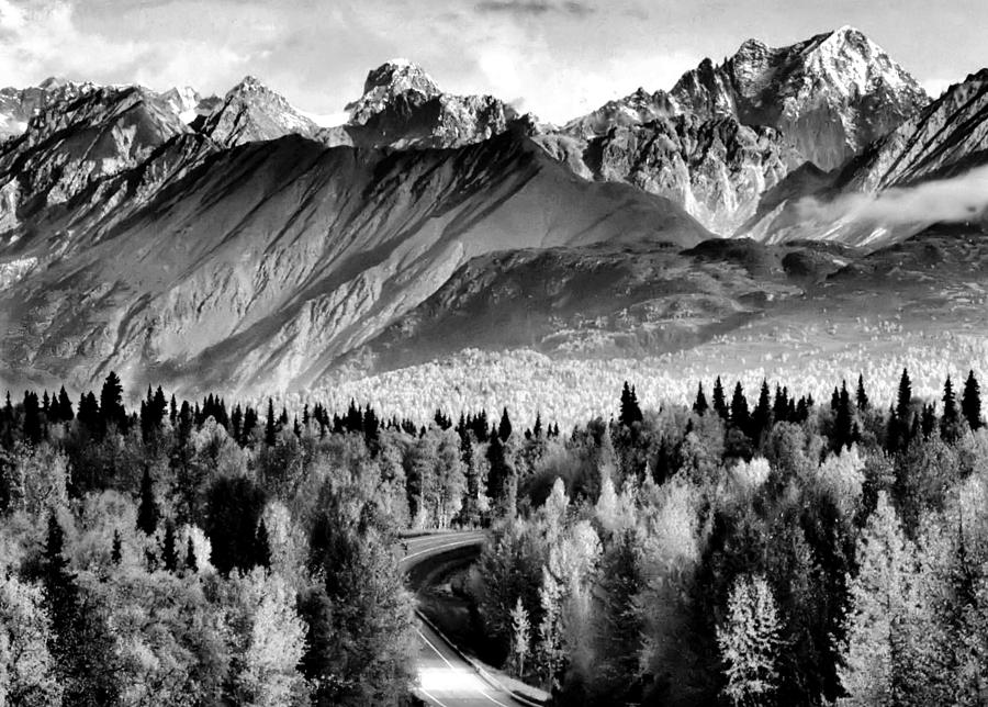Mountains Photograph - Alaskan Mountains by Katie Wing Vigil