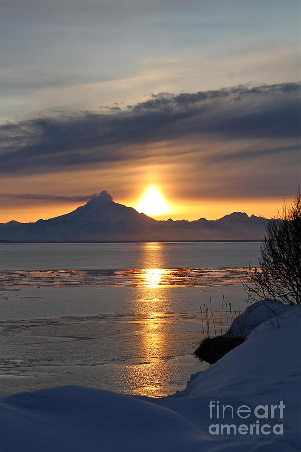 Alaskan Sunset Photograph  - Alaskan Sunset Fine Art Print