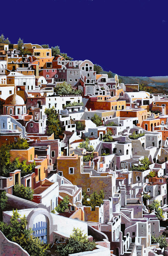 alba a Santorini Painting