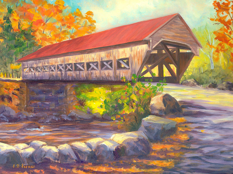 Albany Covered Bridge #49 Painting  - Albany Covered Bridge #49 Fine Art Print