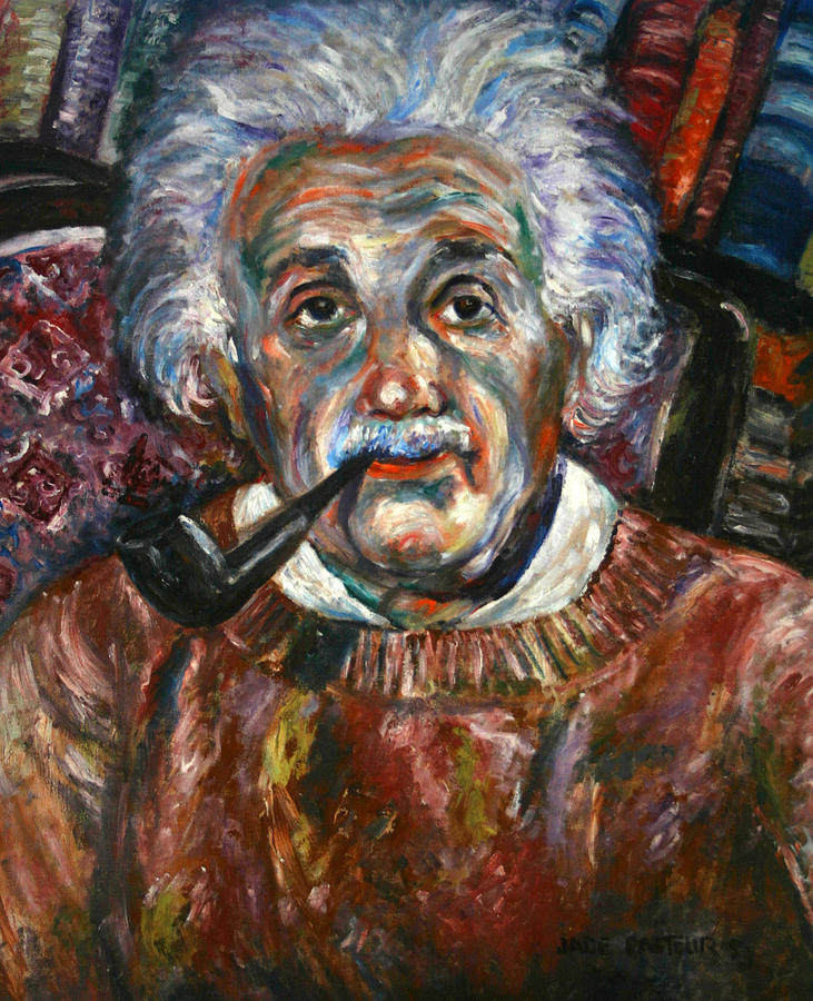 Albert Einstein Painting By Jade Pasteur