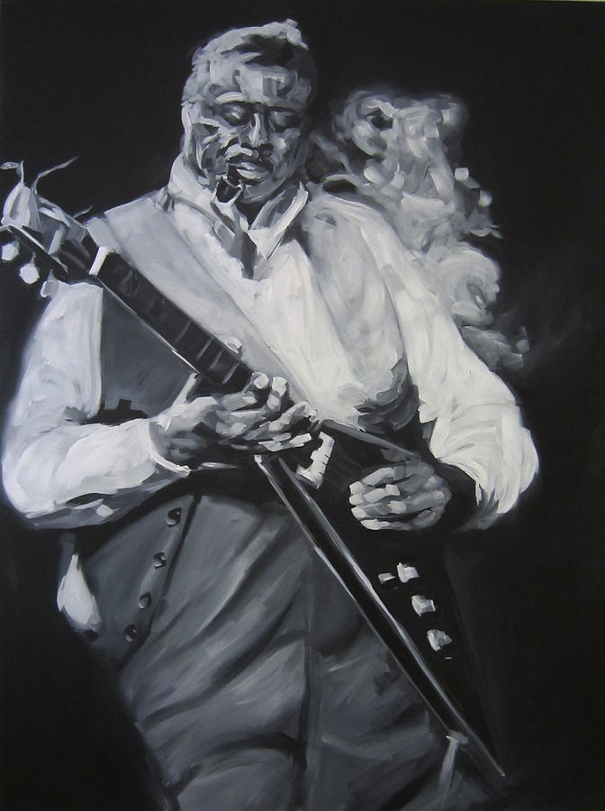 Albert King Drawing  - Albert King Fine Art Print