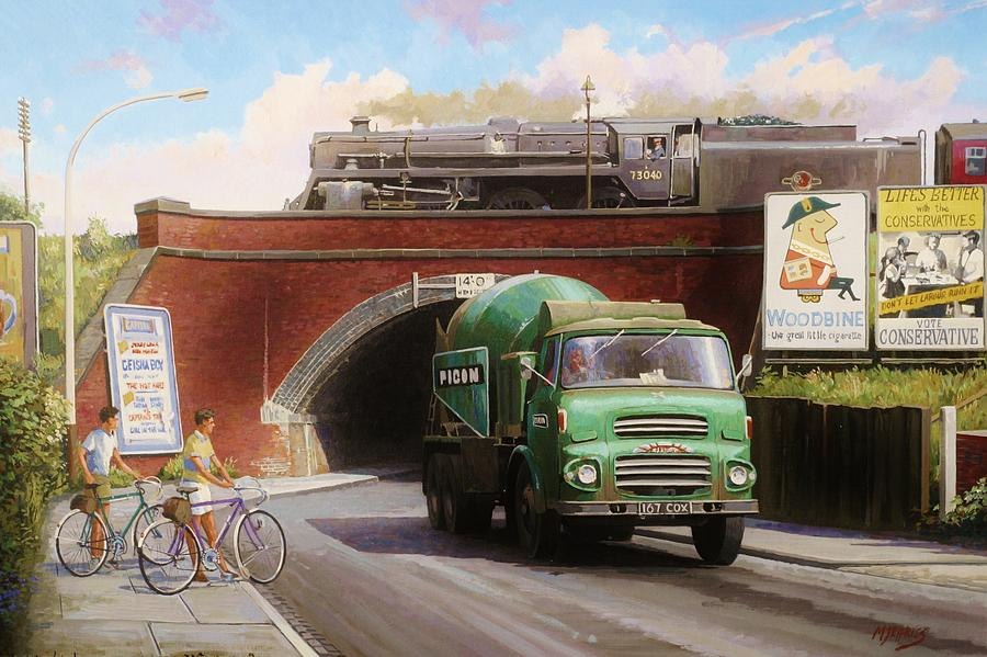 Lorry Painting - Albion Mixer. by Mike  Jeffries