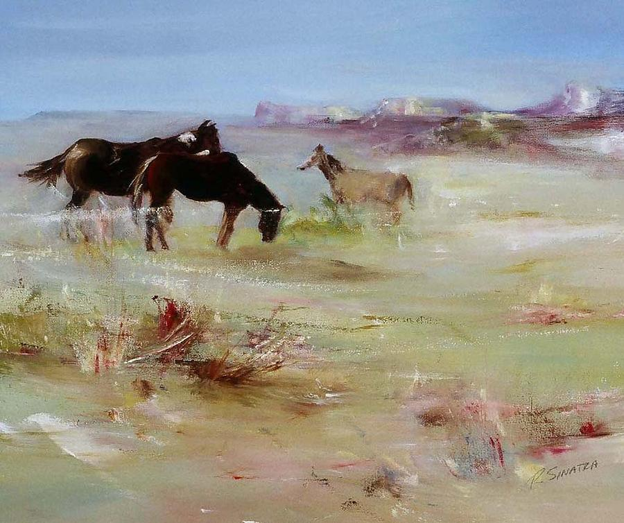 Painter Albuquerque Home Commercial Painting: Albuquerque Horses Painting By Rose Sinatra