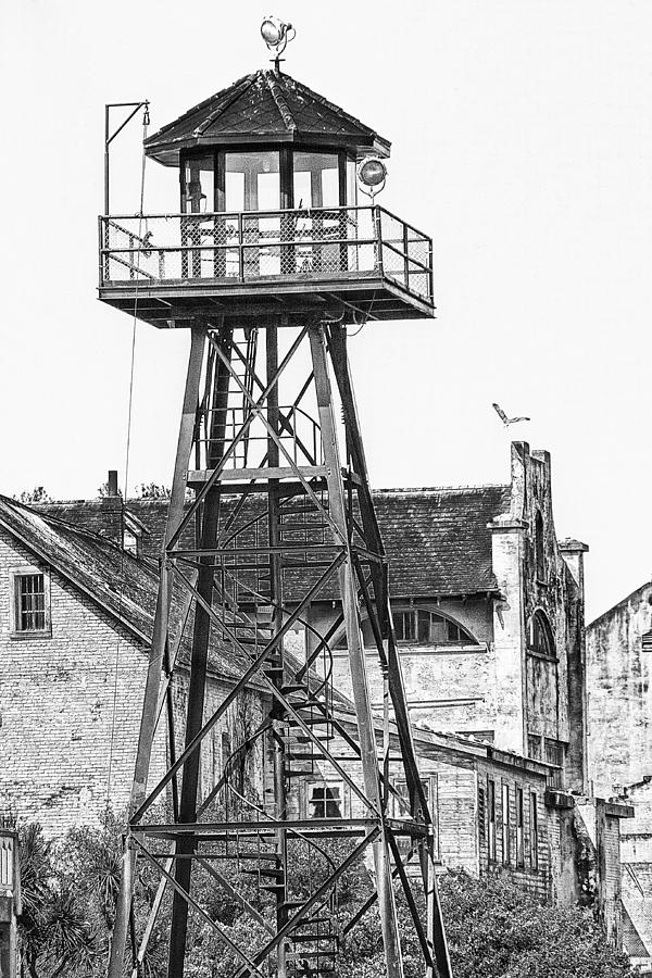 Alcatraz Guard Lookout Tower Photograph