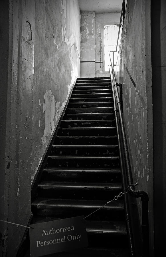 Alcatraz Hospital Stairs Photograph