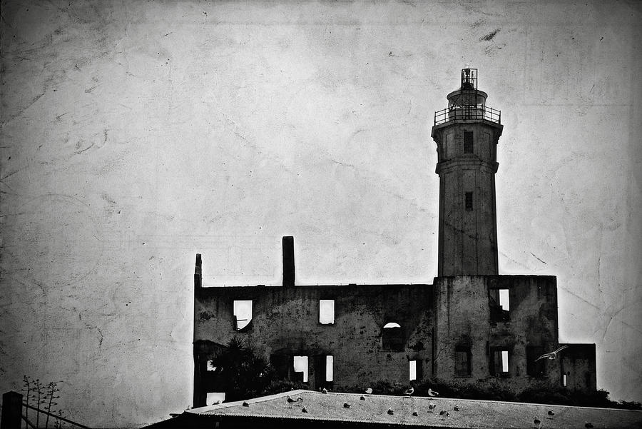 Alcatraz Island Lighthouse Photograph