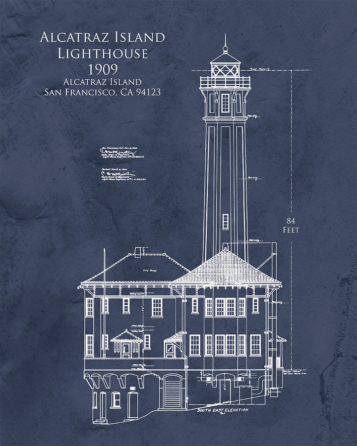 Alcatraz Island Lighthouse Digital Art