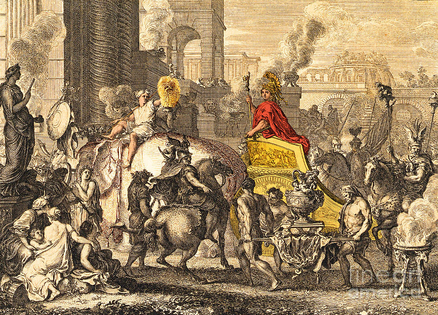 Alexander The Great Entering Babylon Photograph