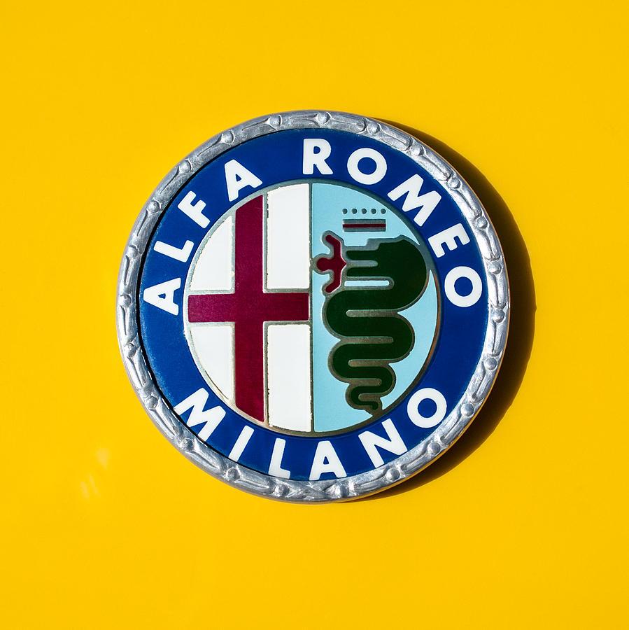 alfa romeo emblem photograph by jill reger. Black Bedroom Furniture Sets. Home Design Ideas