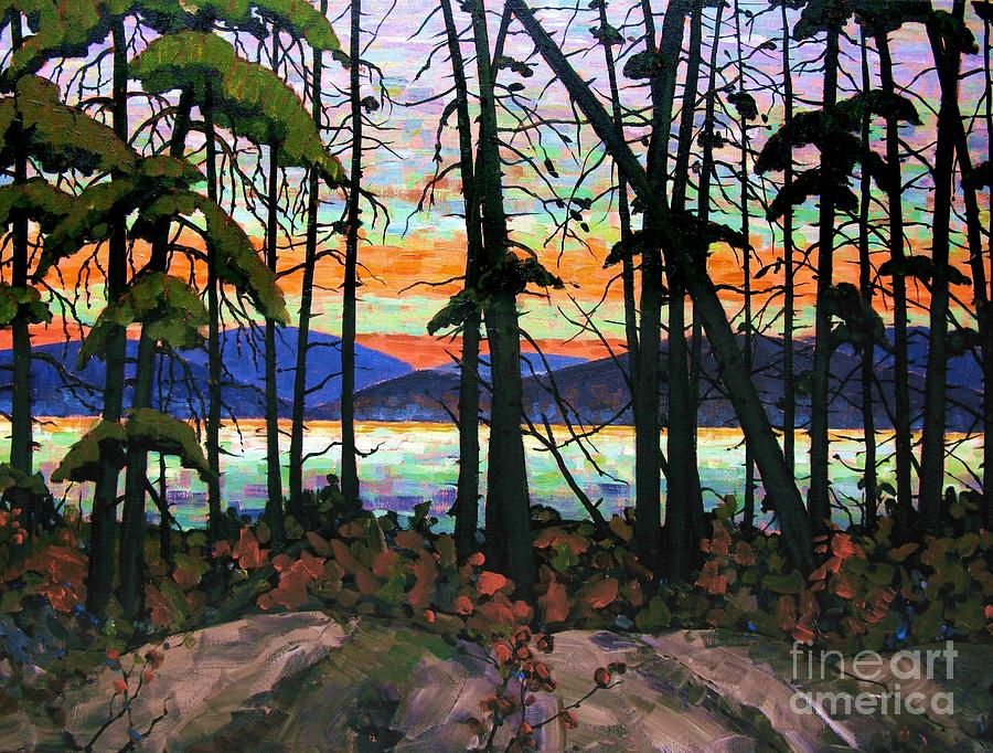 Algoma Sunset 30 X 40 Painting