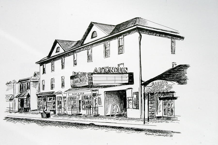 Algonquin Theater Manasquan Nj Drawing  - Algonquin Theater Manasquan Nj Fine Art Print