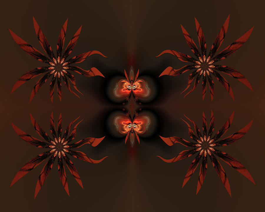 Algorithmic Flowers Digital Art