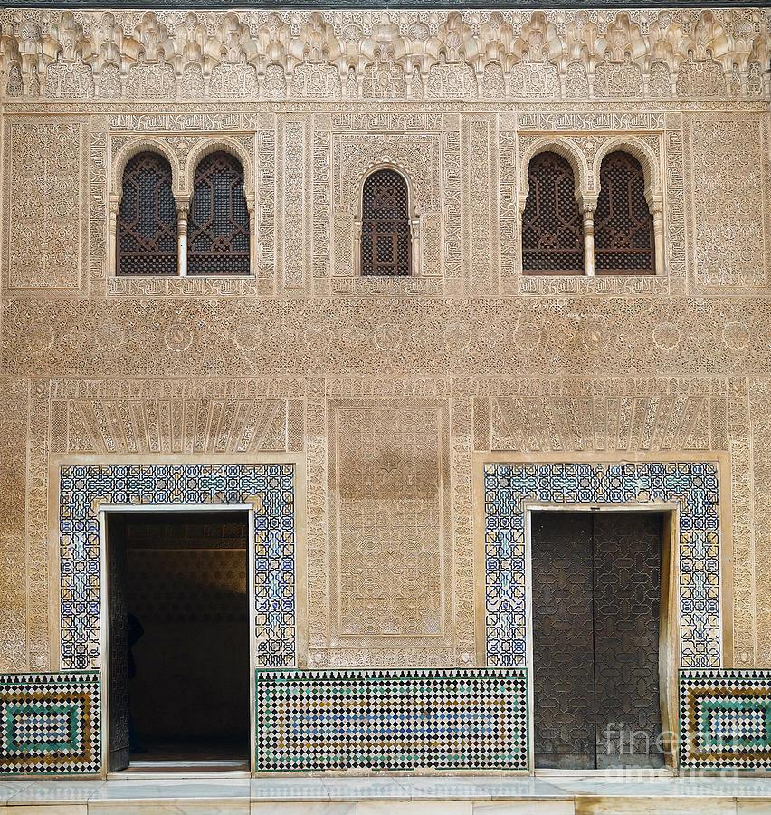 Europe Photograph - Alhambra Court Granada by Rudi Prott