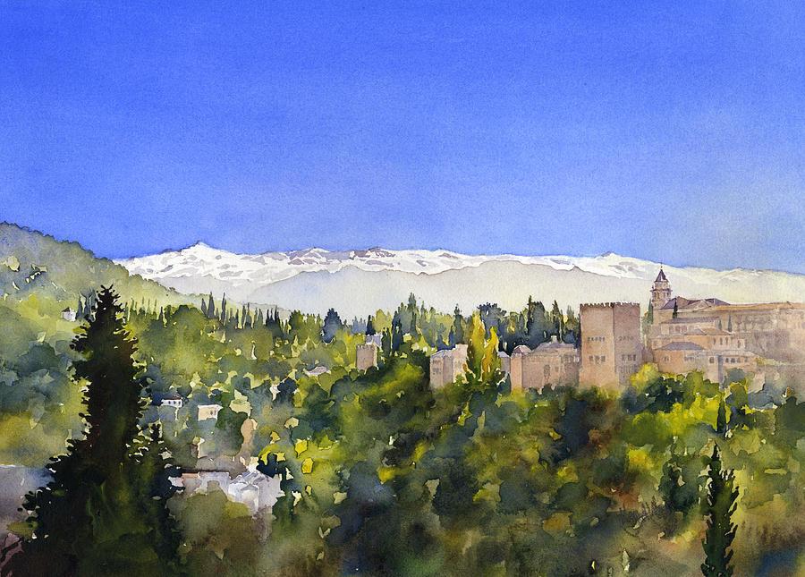 Granada Painting - Alhambra Granada by Margaret Merry