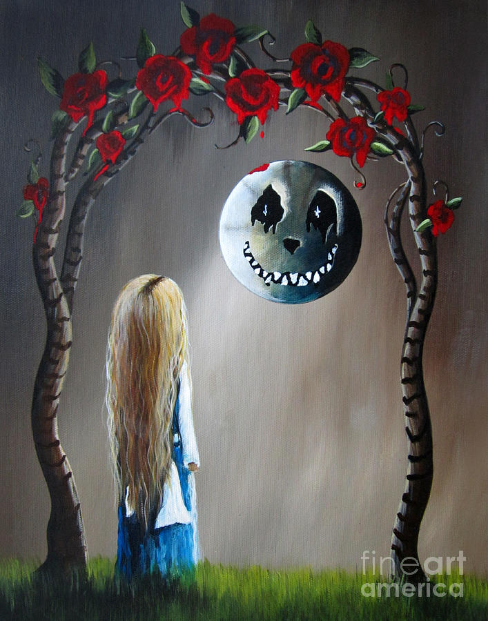 Alice And The Beautiful Nightmare By Shawna Erback Painting  - Alice And The Beautiful Nightmare By Shawna Erback Fine Art Print