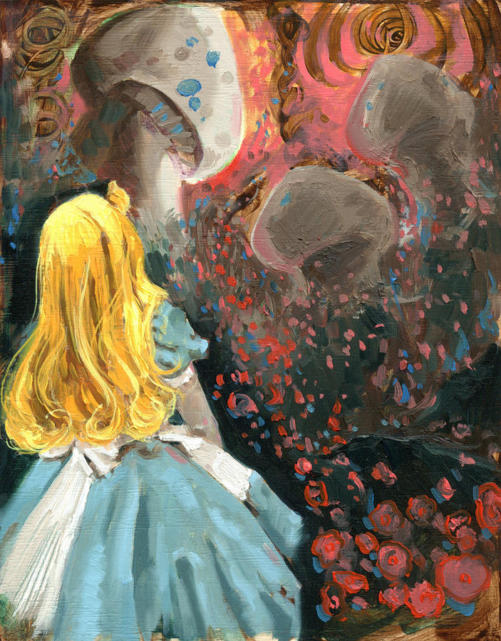 Alice In Mushroom Acres Painting