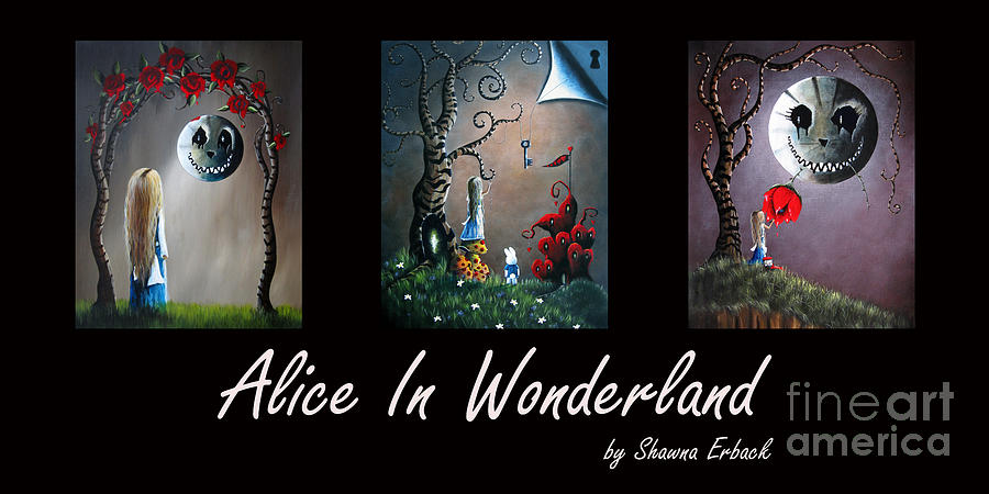 Alice In Wonderland Collection By Shawna Erback Painting  - Alice In Wonderland Collection By Shawna Erback Fine Art Print