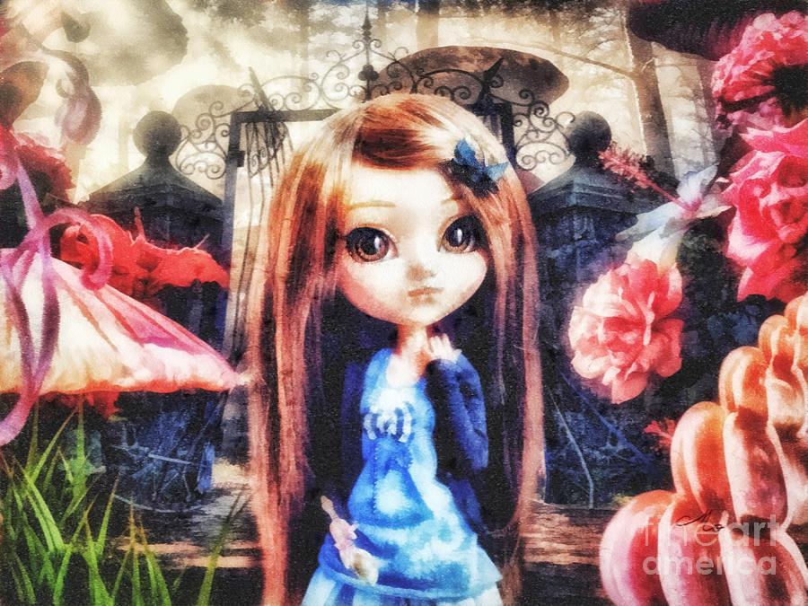Alice In Wonderland Mixed Media - Alice In Wonderland by Mo T