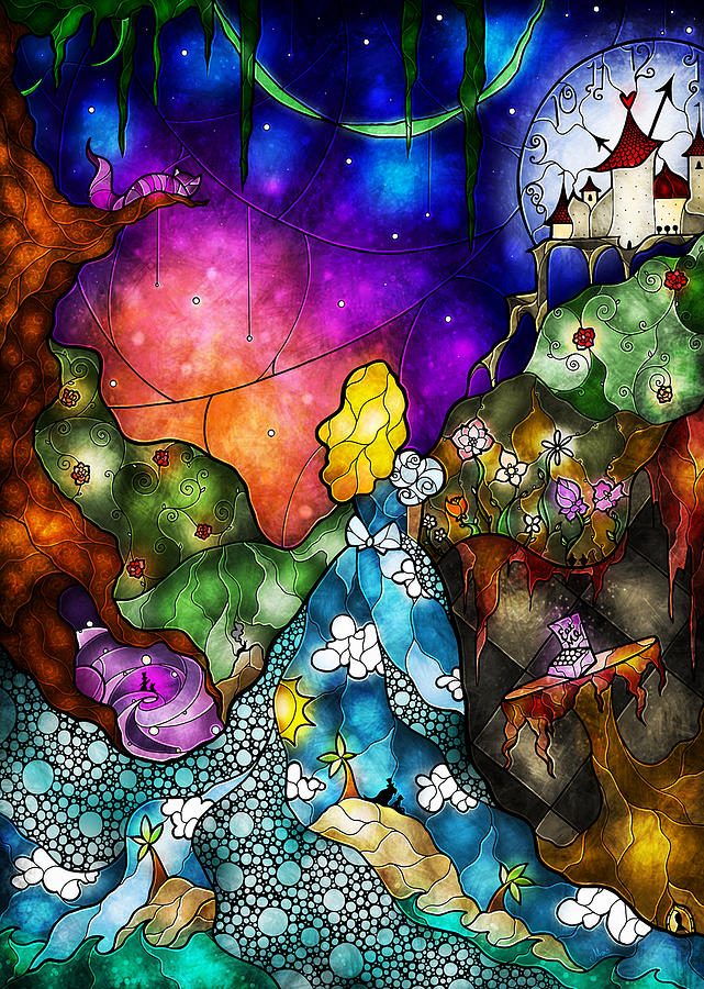 Alices Wonderland Digital Art  - Alices Wonderland Fine Art Print