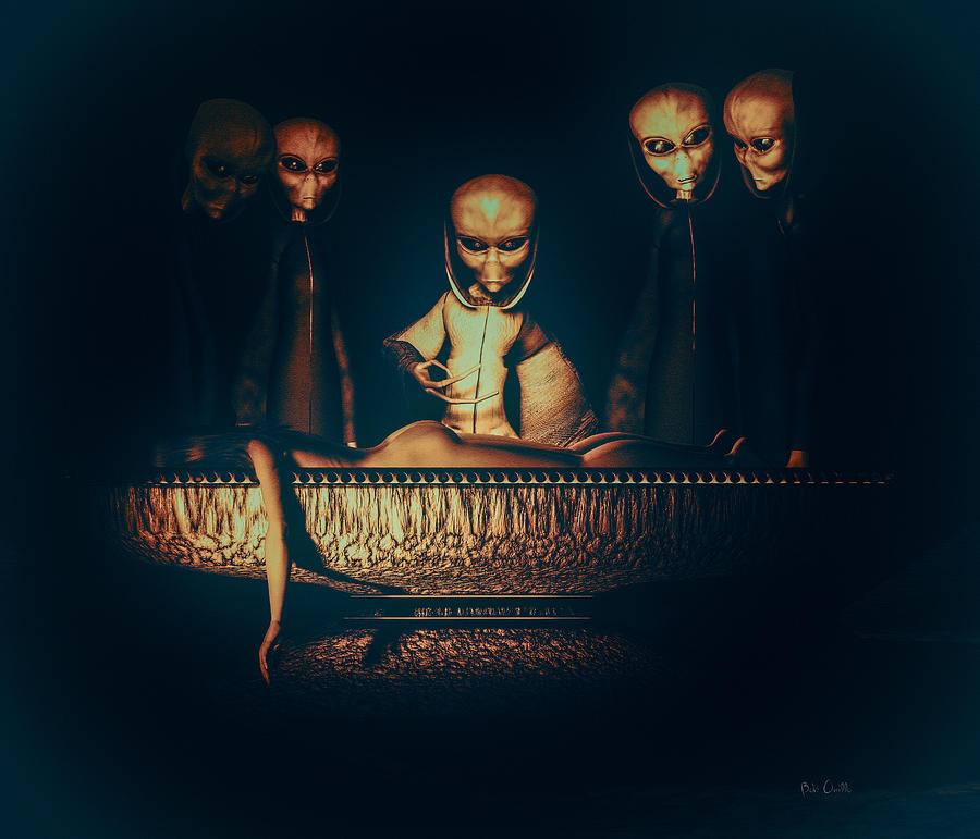 Alien Autopsy Alien Abduction Digital Art  - Alien Autopsy Alien Abduction Fine Art Print