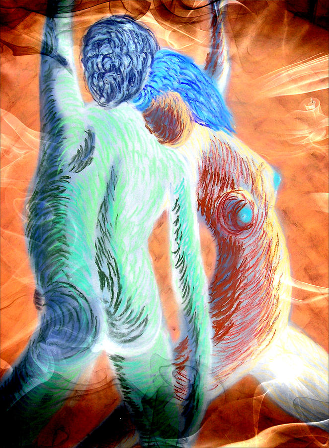 Alien Dance 2 Mixed Media  - Alien Dance 2 Fine Art Print