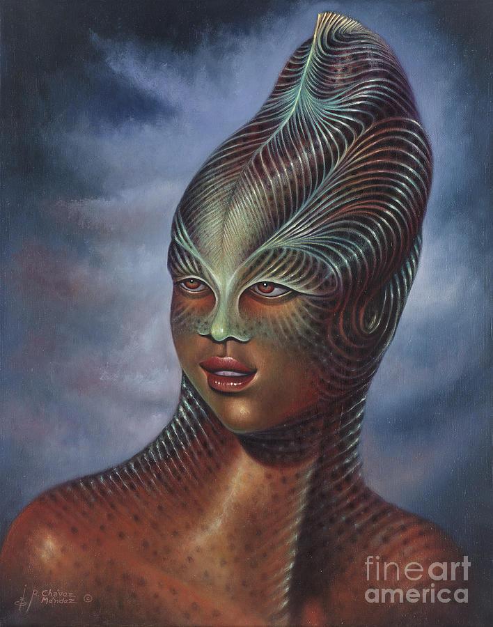 Alien Portrait I Painting