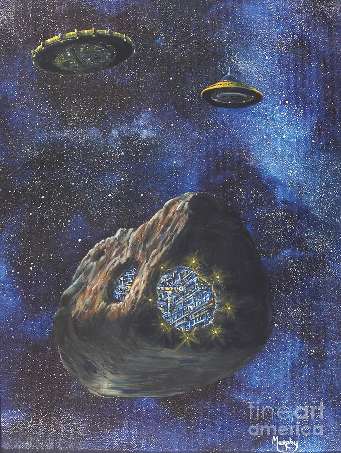 Alien Space Factory Painting  - Alien Space Factory Fine Art Print