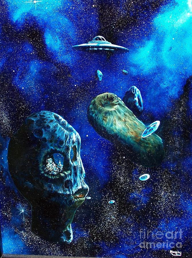 Alien Space Hideout Painting