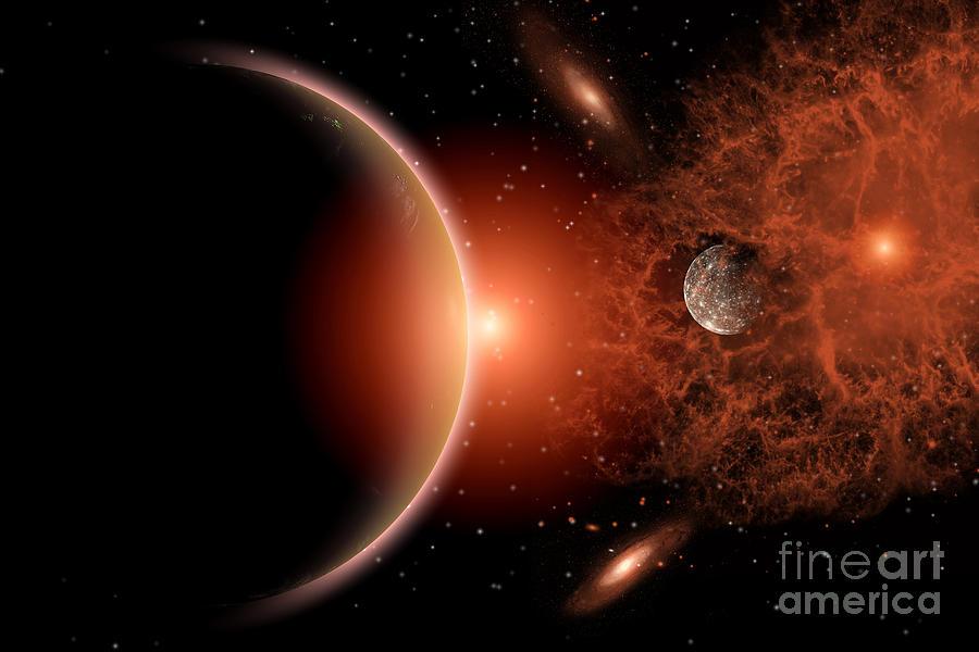 Alien Sunrise On A Distant Alien World Photograph