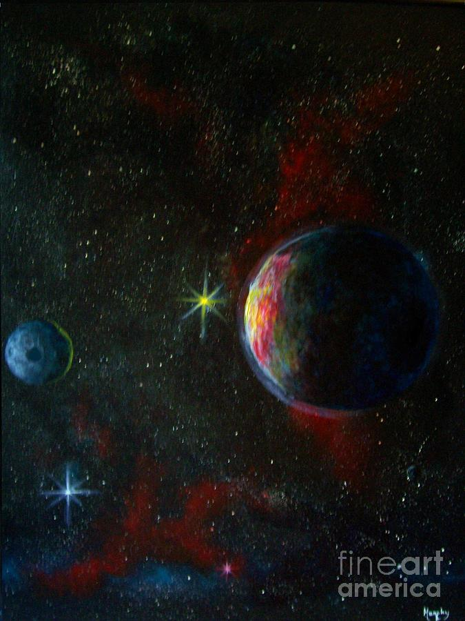 Alien Worlds Painting
