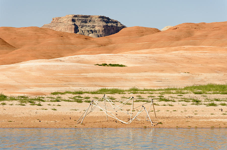 Abstract Photograph - Alien Wreckage - Lake Powell by Julie Niemela