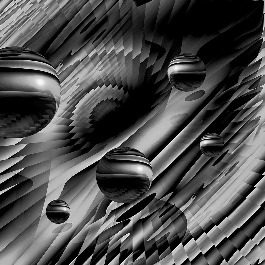 Alignment Of The Planets Bw Digital Art