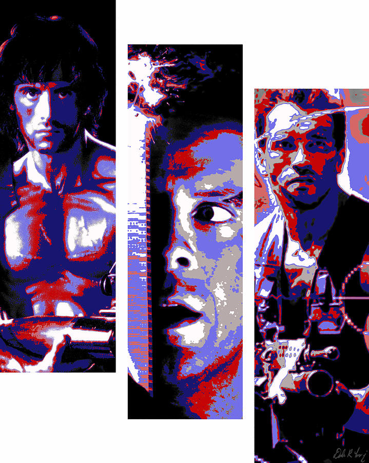 All-american 80s Action Movies Digital Art  - All-american 80s Action Movies Fine Art Print
