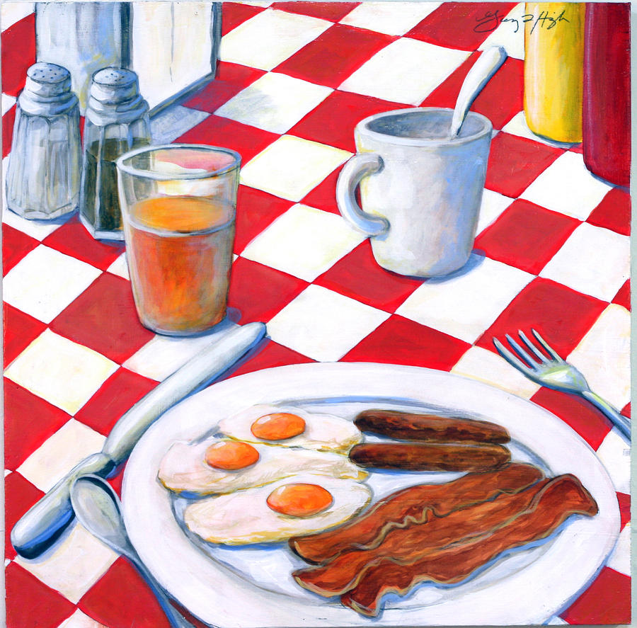 All american breakfast painting by gerry high for Art and appetite american painting culture and cuisine